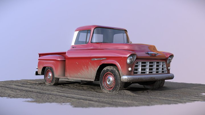 55 Chevy Pickup 3D Model