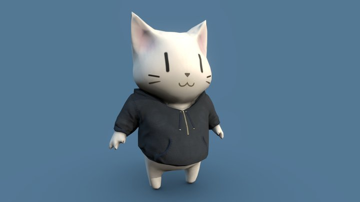 Cat Kawaii 3D Model
