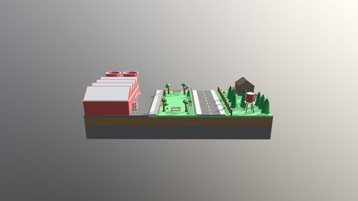 Low Poly World 3D Model