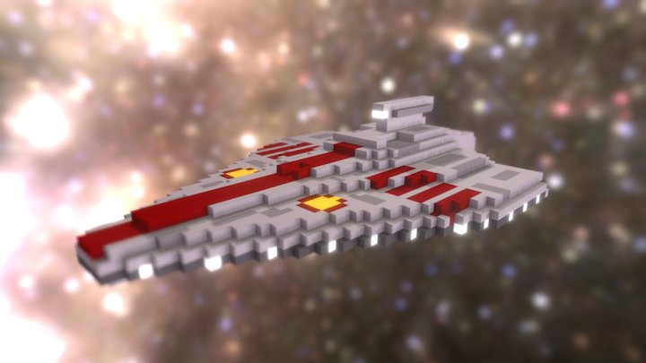 Star Wars - Republic Assault Ship (voxel) 3D Model