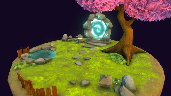 Interdimensional zen gallery space 3D Model