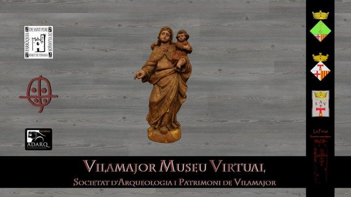 Mare de Déu de l'església de Sant Pere 3D Model