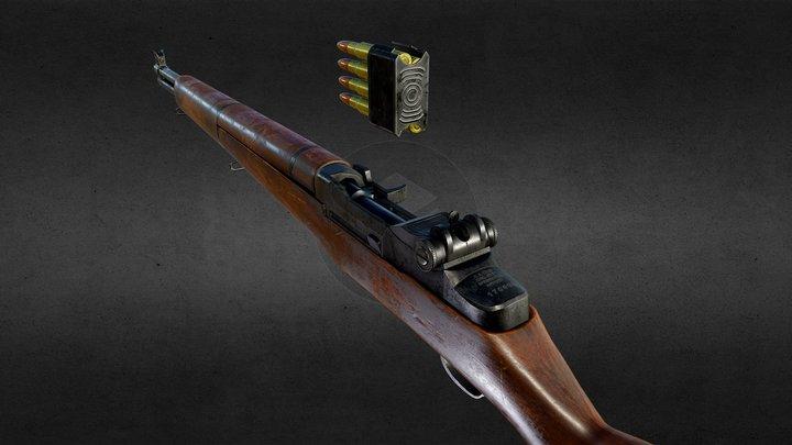 M1 Garand ( US Rifle, Caliber .30, M1) 3D Model