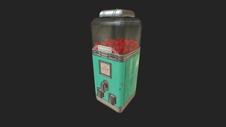 Vintage GumBall Machine 3D Model