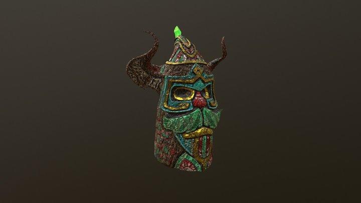 Wooden Tiki Totem 3D Model