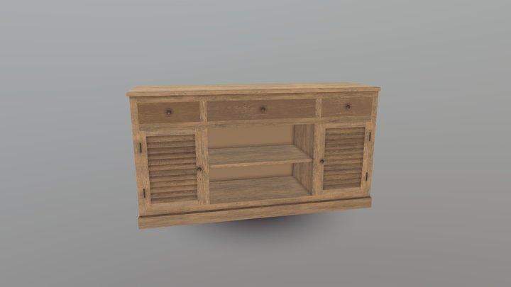 Buffet-bois 3D Model