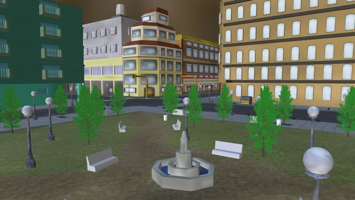 Mini-Barrio Porteño 3D Model