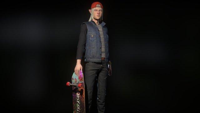 FANTASY HIGH-Dark Elf 3D Model