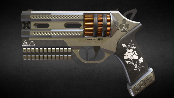 Hammond DFR (Double-Fire Revolver) 3D Model