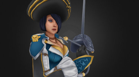 Royal Guard Fiora (Rioat Art Contest) 3D Model