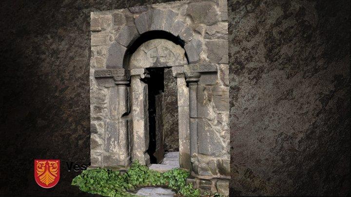 Olavskirken ruin portal 3D Model