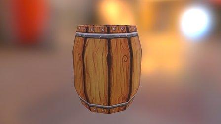 barrel low poly 3D Model
