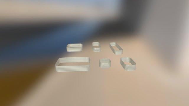 Raised Garden Beds 6 in 1 3D Model