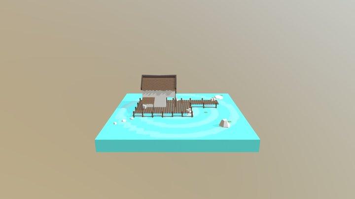 Water Hut 3D Model