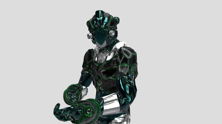 Robot Metal Animation 3D Model