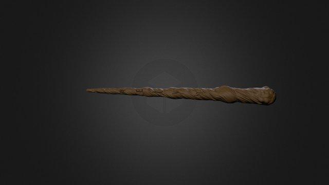 Wood High Poly Runes Decimated 3D Model