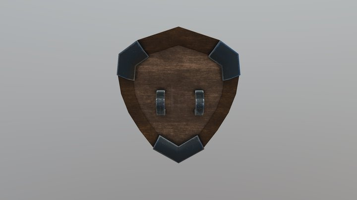 Medieval Styled Shield 3D Model