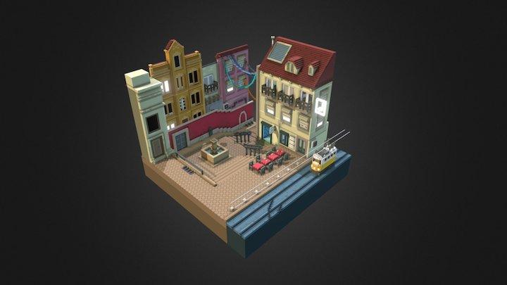 Streets of Lisbon 3D Model