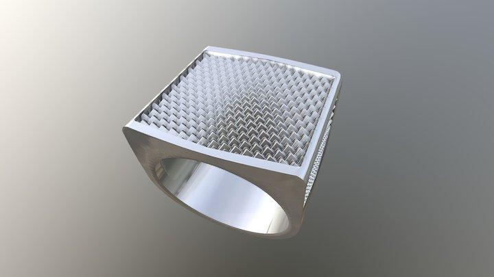 Men's ring love - western pattern 3D Model