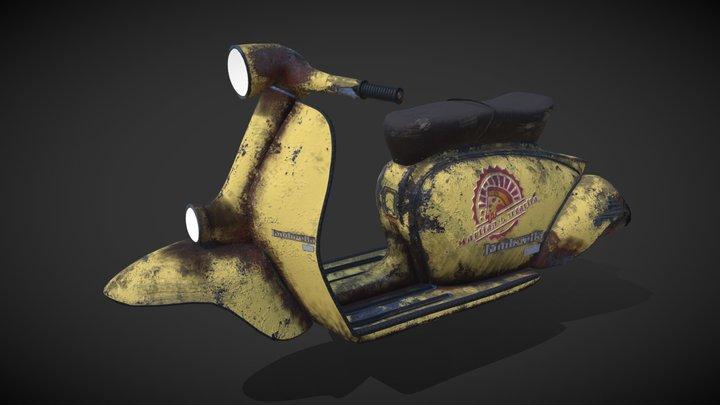 Dirty Vespa 3D Model