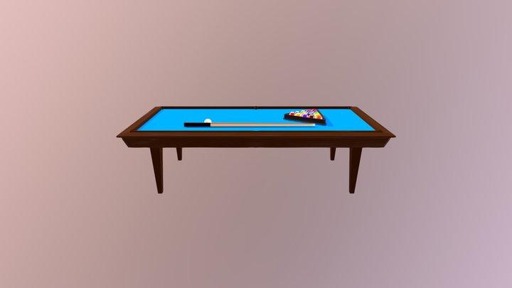 Billiard Table & Balls 3D Model
