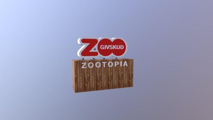 Givskud-skilt 3D Model