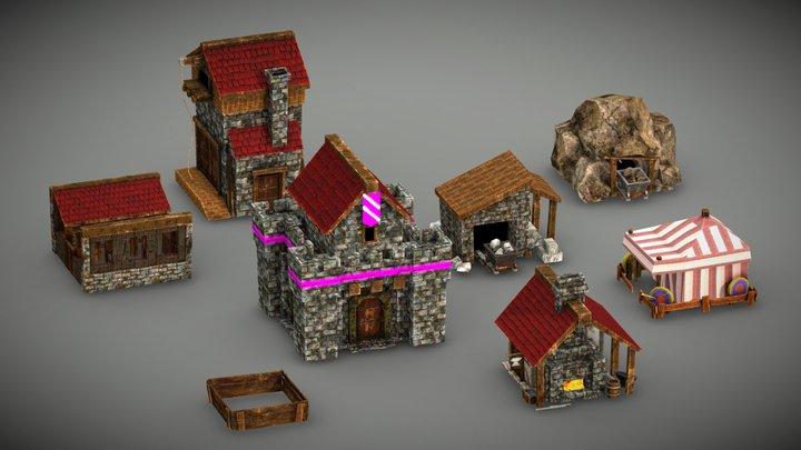 RTS Buildings 3D Model