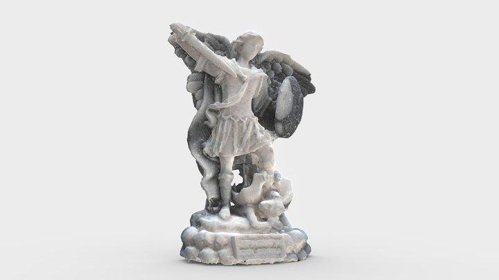 San Miguel Arcangel 6CM Salt Statue 3D Model