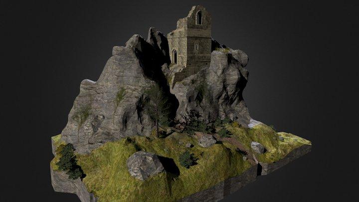 Roche Rock, Cornwall 3D Model
