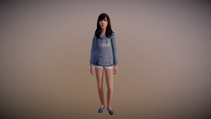 What I would looks like in life is strange 3D Model