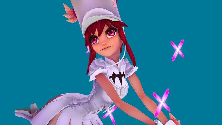 """""""Nonon Jakuzure"""" Fan Art 3D Model"""