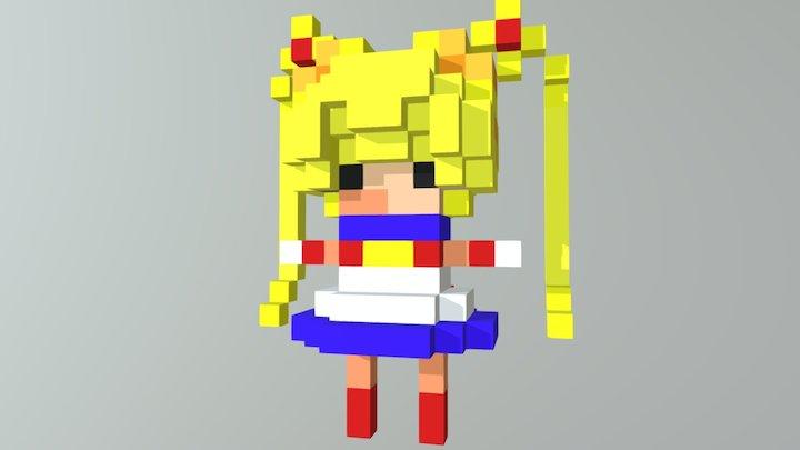 Moon Girl 3D Model