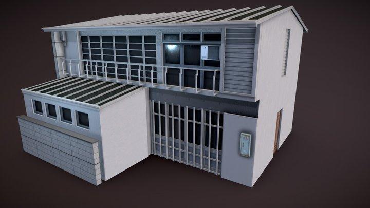 Japanese Residential Home 03 3D Model