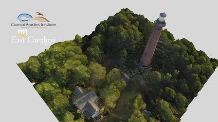 Currituck Beach Lighthouse (11 February 2016) 3D Model