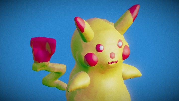 Pikachu Po-clay-mon 3D Model