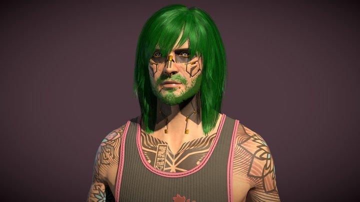 V - Cyberpunk 2077 Fanart 3D Model