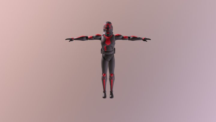 SOD CUSTOM RED 3D Model