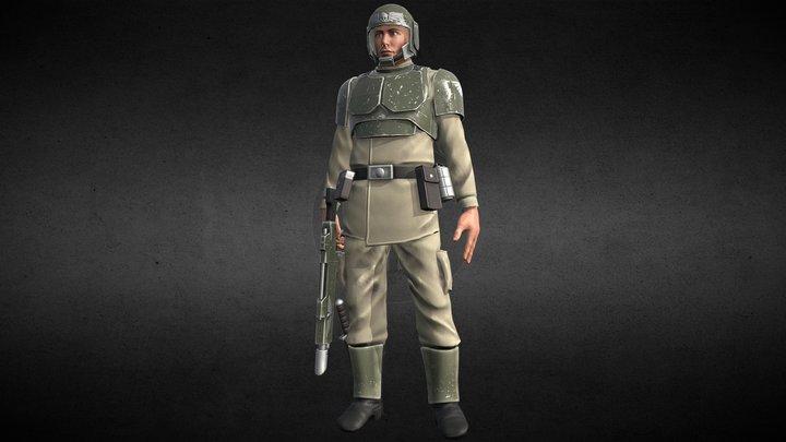 Warhammer 40k - Cadian Shock Trooper 3D Model