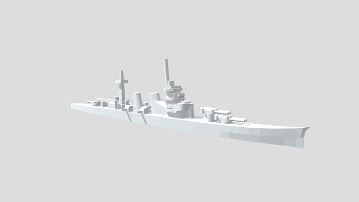 IJN Aoba - Model for 1/4000 printing 3D Model
