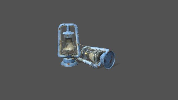 Kerosene Lamp Blizzard Dietz Fitzall 3D Model