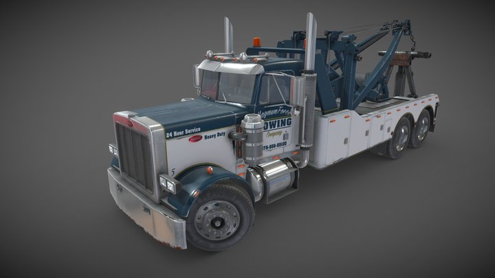 Peterbilt 359 wrecker 3D Model