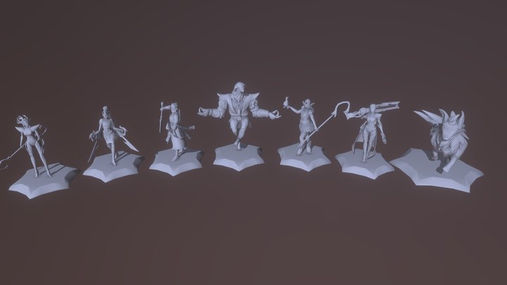 DRAFT GAME 3D Model