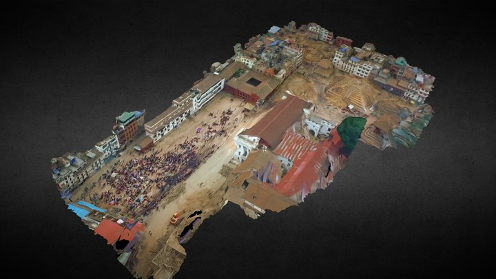 Post-Earthquake Kathmandu Durbar Square 3D Model
