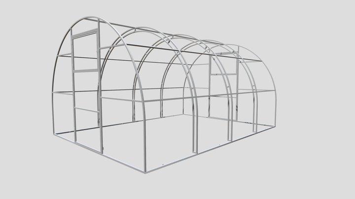 Теплица Яночка двойная дуга 3x4 65см 3D Model