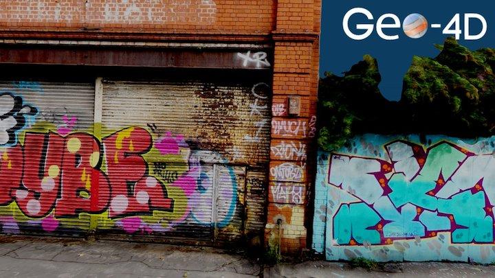 Terrestrial Photogrammetry: Graffiti Wall 3D Model