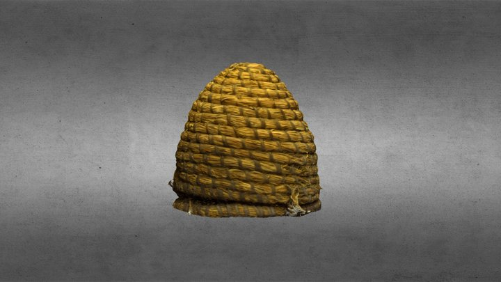 Skep - Straw Beehive - Rothe House 3D Model