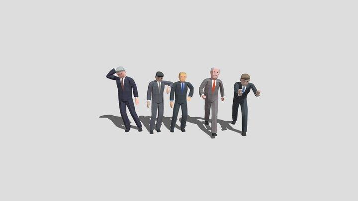 LowPoly Politicians 02 3D Model