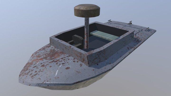 Gs Fast Attack Boat 3D Model