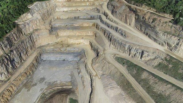 Mining Quarry 3D Model