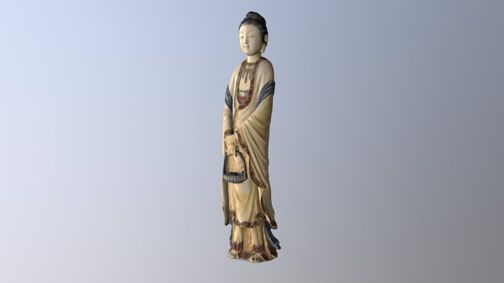 Fish-Basket Guanyin 3D Model